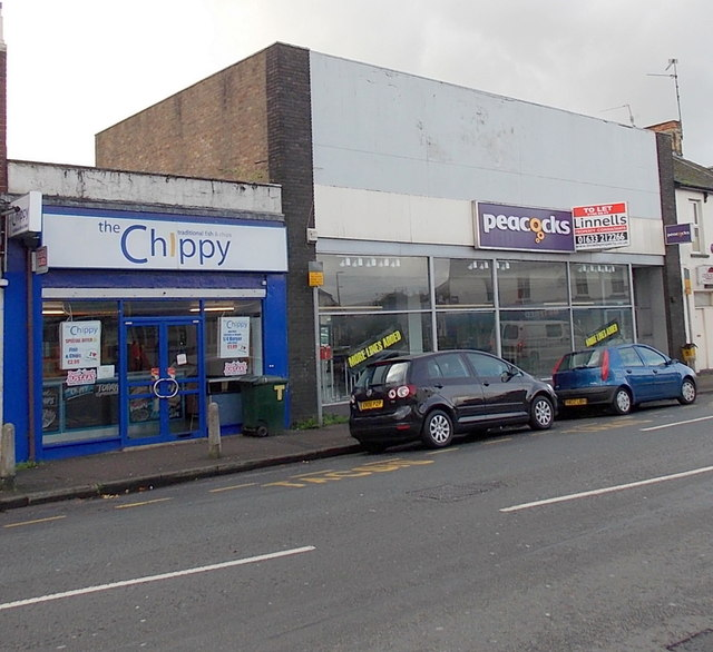 The Chippy and a former Peacocks shop, Maindee, Newport