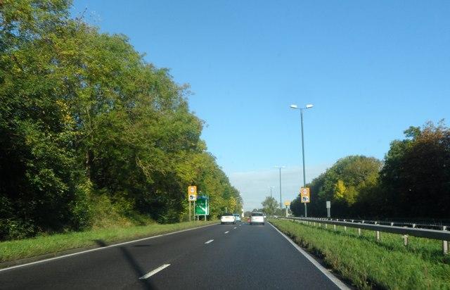 A45 near Lower Eastern Green