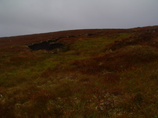 Peat hagg on Meall Meadhonach near Crask Inn, Sutherland