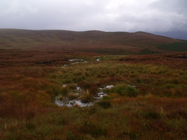 Wet ground south-east of Meall Meadhonach near Crask Inn, Sutherland