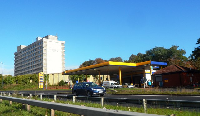 Petrol Station near the Coventry Hill Hotel