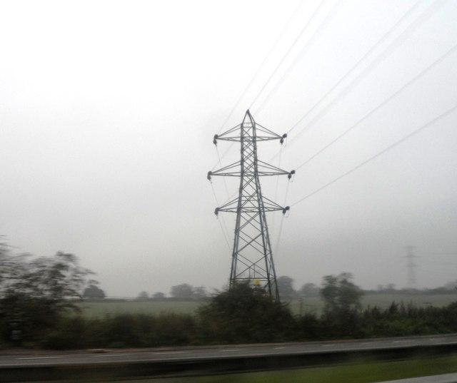 Electricity Pylons near Pickford Farm