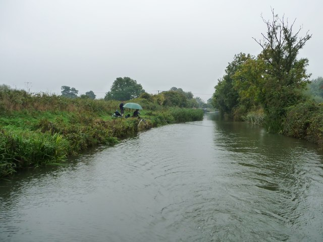 Anglers fishing on the Kennet & Avon canal