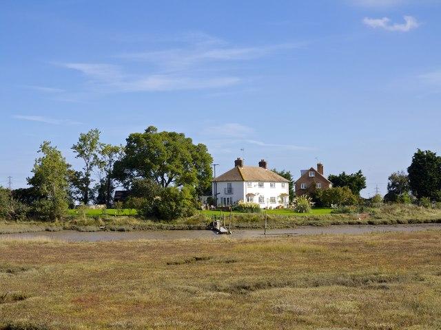 Nagden Cottages and landing off Faversham Creek