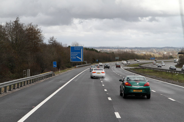 M27 Approaching Junction 5