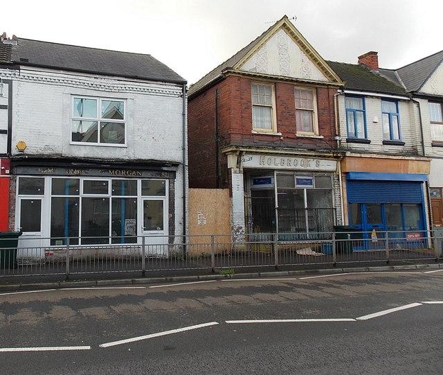 Two empty Chepstow Road shops, Newport
