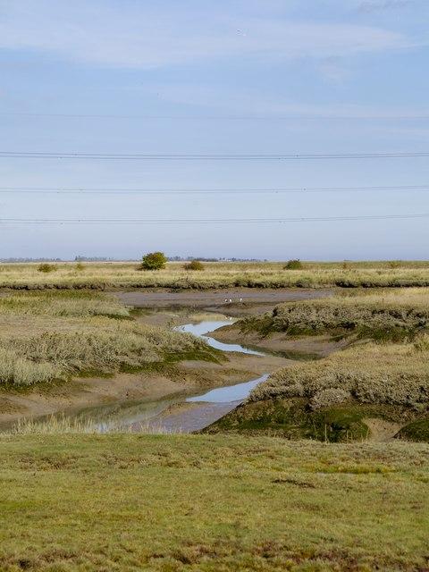 Salting inlet off Faversham Creek with Nagden Marsh beyond