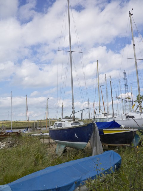 Hollowshore Boatyard on the Oare Creek