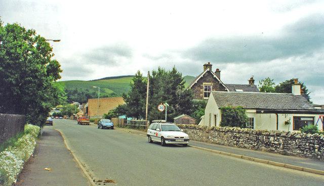 Innerleithen: site of former station, 2000