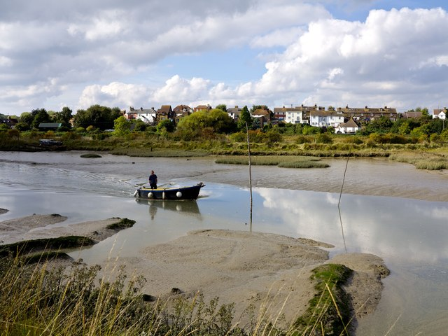 Sunday morning on Oare Creek with Oare beyond