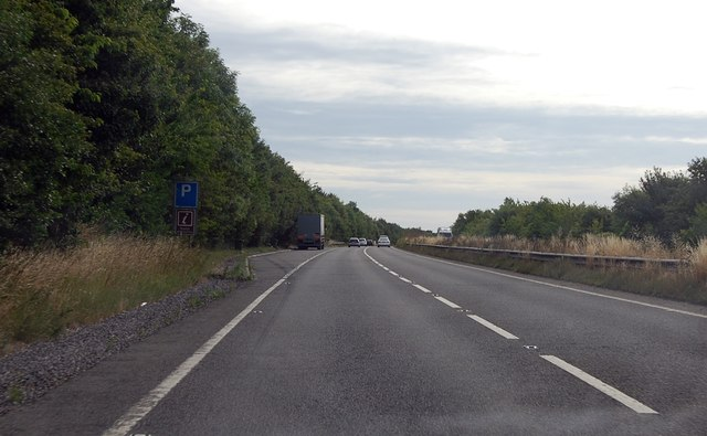 A303 parking area near Weyhill