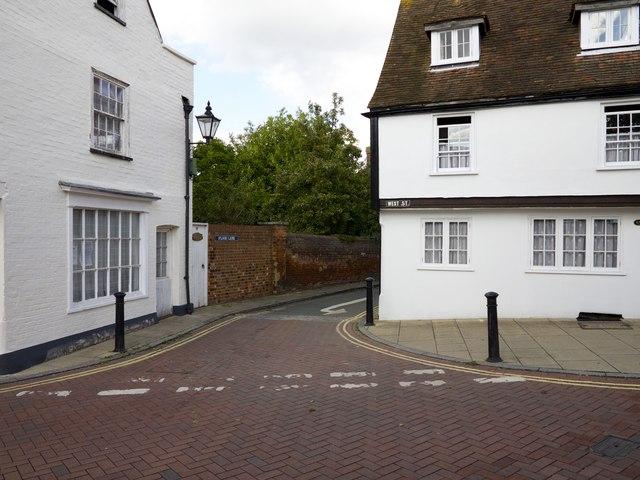 Junction of West Street and Flood Lane Faversham