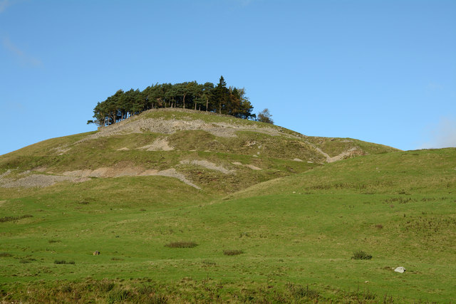 Grassy slope on north side of B6276