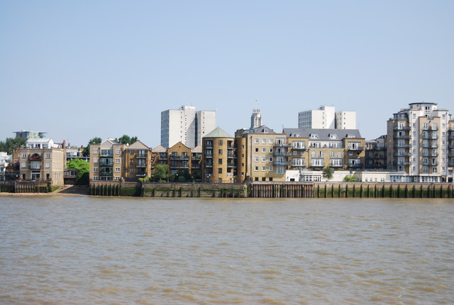 View across the Thames to Limehouse