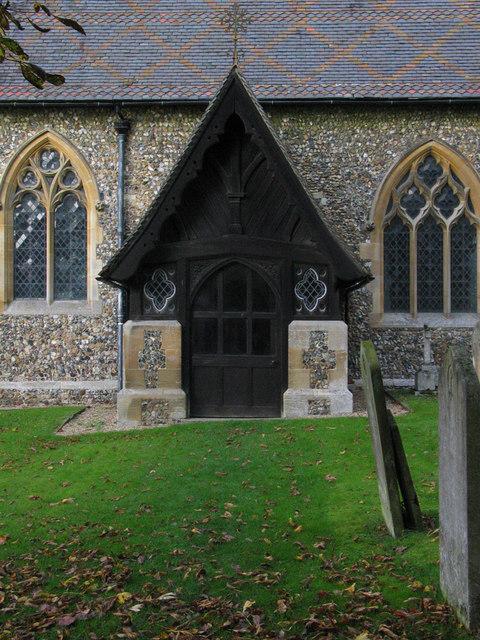 Porch, St Mary's Church, Brent Pelham