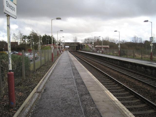 Stepps railway station, North Lanarkshire