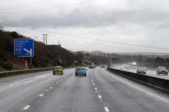 M27 Approaching Junction 12