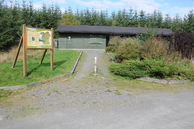 Visitor centre, Pen y Ffordd Wood