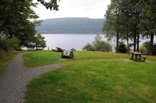 Picnic site, Lake Vyrnwy/Llyn Efyrnwy