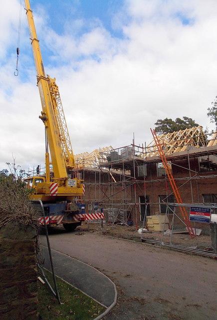 House construction near Christ Church, Wellington