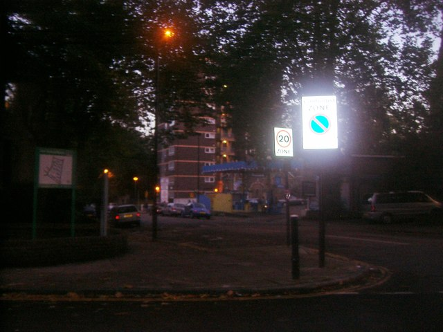 Sunnyside Road at the junction of Hornsey Lane