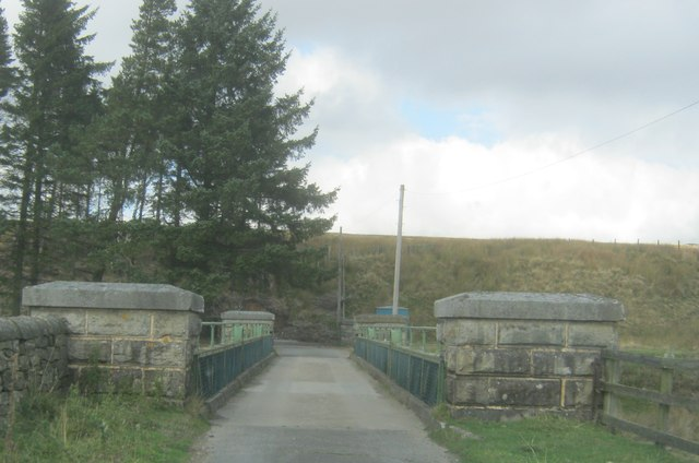 Road bridge over the overflow channel at Waskerley Reservoir
