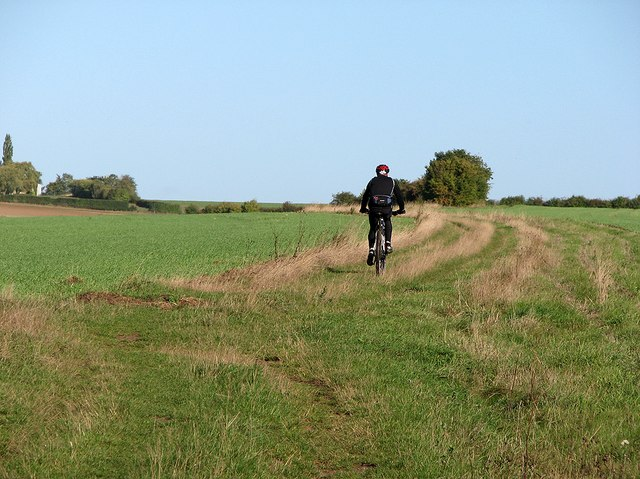 Cycling towards The Roman Road