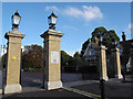 TQ3976 : Rebuilt gates, Greenwich Park by Stephen Craven