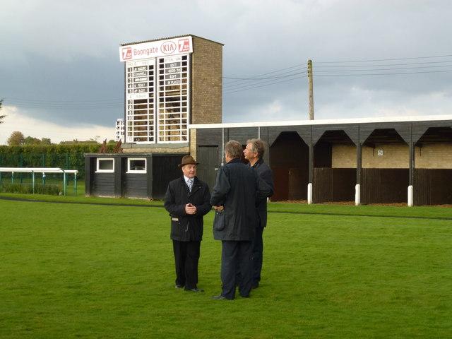 Jonjo O'Neill in the parade ring, Huntingdon Racecourse