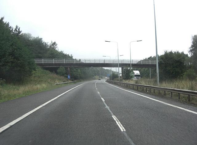 M54 footbridge north of Beech Head