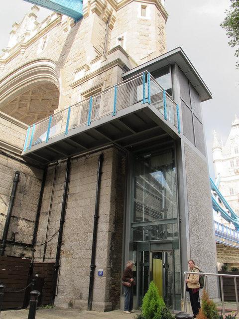 Lift to Tower Bridge