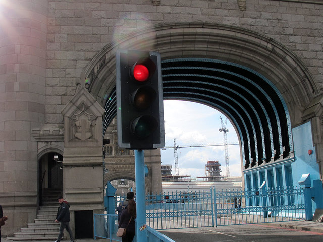 Tower Bridge: gates closed