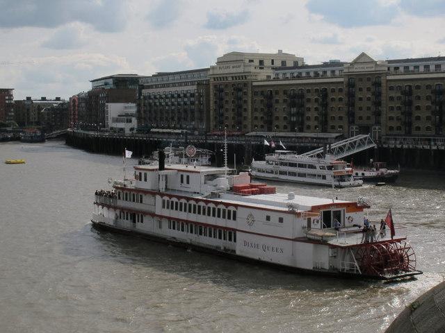 The Dixie Queen below Tower Bridge
