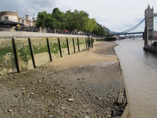 Low tide near the Traitor's gate