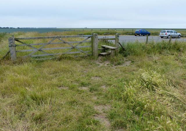 Gate and stile at Freiston Shore north car park