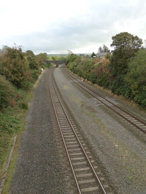 Transpennine railway at Chinley