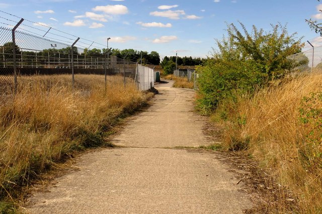 The Icknield Way runs past the sewage works