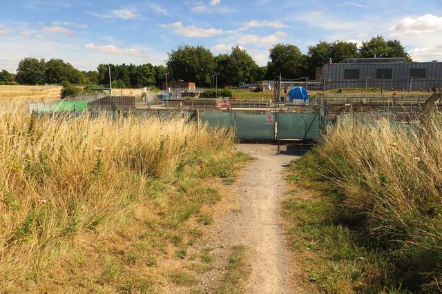 The Icknield Way runs to the sewage works