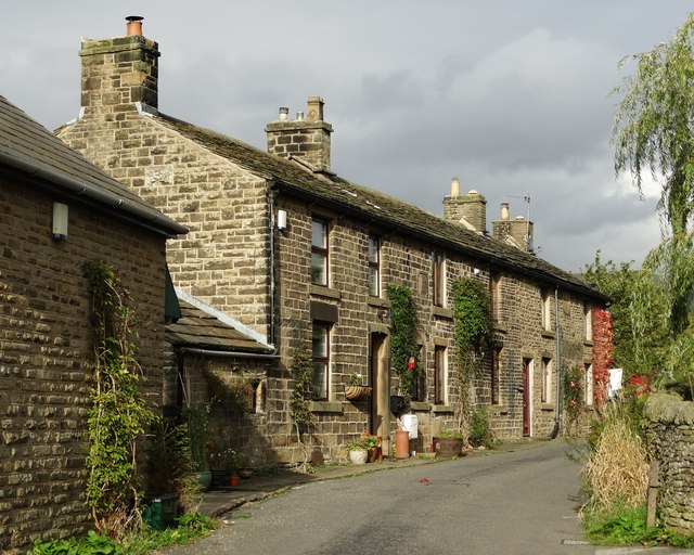 A row of cottages in New Smithy