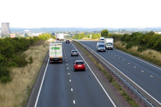 The A34 heading north