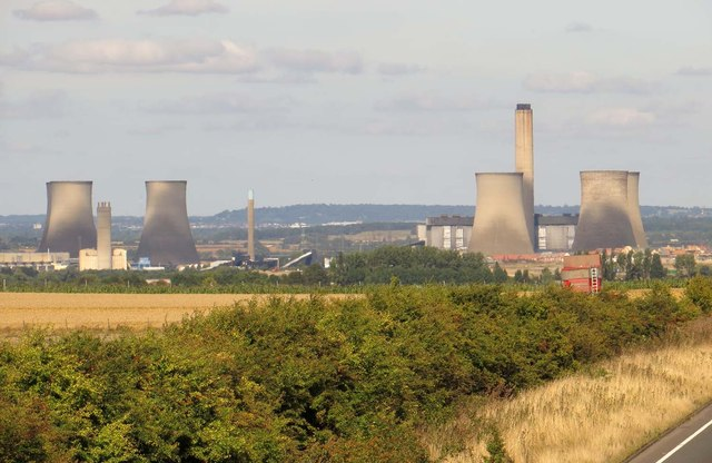 Didcot Power Station from the Icknield Way
