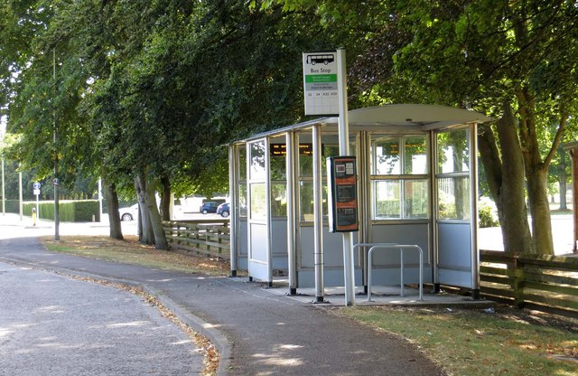 Bus stop on Newbury Road