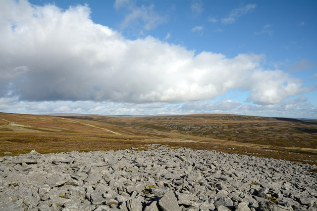 Rash of boulders east of summit of Standards