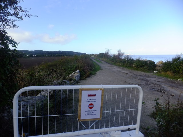 Barrier to Wales Coast Path