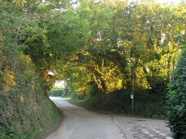 Lane junction, Tideford Cross