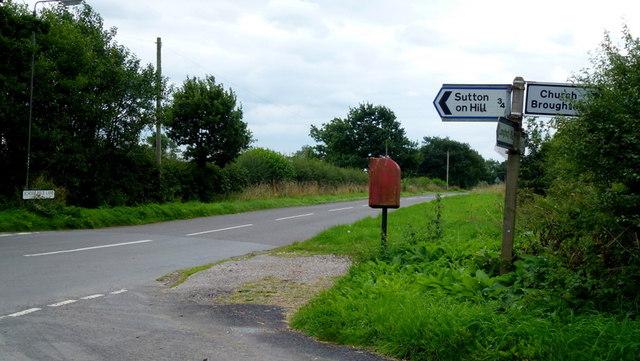 Sutton Heath crossroads