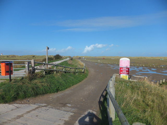 Entrance to Gronant Dunes and Talacre  Warren