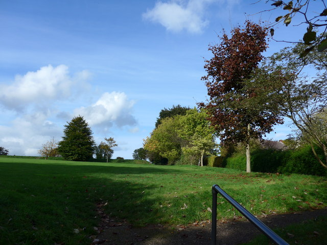 An autumnal recreation ground at West Meon