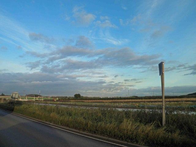 Major road widening scheme on A453