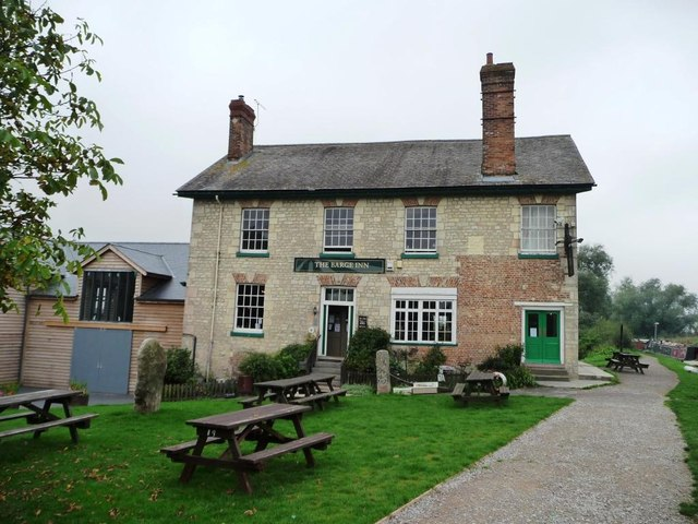 The Barge Inn from the canal towpath